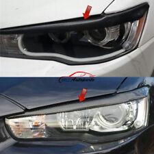 For Mitsubishi Lancer Evolution 08- 2014 Car Carbon Fiber Head Light Eyelid Trim