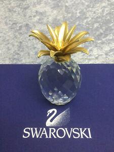 Swarovski Crystal Pineapple, Large Gold 7507105001 010044. Retired 2007.
