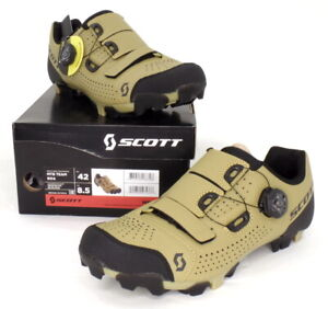 Scott MTB Team Boa Mountain Bike Shoes Beige/Black Men's Size 8.5 US / 42 EU