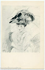 PAUL CéSAR HELLEU. JOLIE FEMME AVEC UN CHAPEAU. BEAUTIFUL WOMAN WITH HAT. MODE