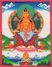 Maitreya Buddha Thangka Painting Handmade Buddhist Spiritual Ethnic Thanka Art