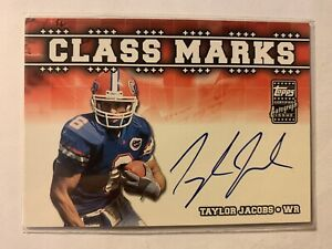 Taylor Jacobs 2003 Topps Draft Picks & Prospects Rookie Class Marks Autograph