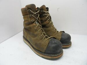 "TIMBERLAND PRO Men's GRIDWORKS 8"" ALLOY TOE WORK BOOTS A12EZ Brown Size 8.5W"