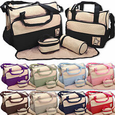 Baby nappy changing bag set 5pcs mummy maternity hospital bag uk