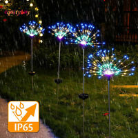 90/100/120/150/200LED Solar Battery Firework Lights Fairy String Path Lawn Decor