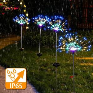 90/100/120/150/200LED Solar Battery Firework Lights Fairy String Path Lawn Decor