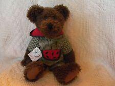 """Boyds RUDY MCRIND ~ 15"""" scruffy chenille bear ~ retired  ~ mint w/tags"""