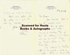 Louis Calhern - Letters -Autograph- - Cukor - Marilyn Monroe - Aa Nom
