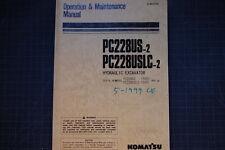 KOMATSU PC228 EXCAVATOR Operation/Operator Maintenance Shop Manual guide 1999