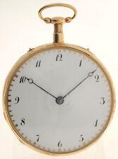 MUSIKSPIELUHR MIT  VIERTELREPETITION- GOLDENE18K TASCHENUHR - ÜBERGROSS - 1825