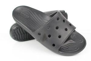 Crocs Men's Classic Slide Sandals Size 11 Black *Damaged*