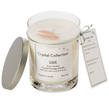 Rose Quartz Crystal - LOVE- White Tea Warm Woods & Ginger - Free Shipping