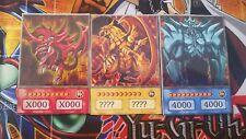 Yugioh Orica Anime Style dieux cartes Obélisque, Ra et Slifer