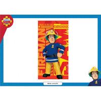 Fireman Sam Beach Towel 100% Polyester 140x70cm Red