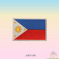 Philippines National Flag Embroidered Iron On Patch Sew On Badge
