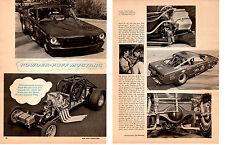 1967 MUSTANG FUNNY CAR HEMI / PAULA MURPHY ~ ORIGINAL 2-PAGE ARTICLE