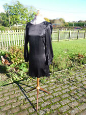BIBA Black Silk Dress Size 8 BNWT