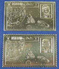 Raumfahrt Space 1969 Ras al-Khaima Kennedy A684 A/B Open Mouth Gold MNH/758