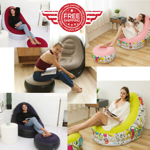 Outdoor Indoor Inflatable Large Comfortable BEAN BAG Lazy Sofa Bed Gaming Work