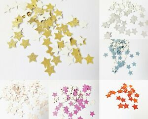 Glitter Stars Papercraft Embellishments Scrapbooking Party Card Making Crafts