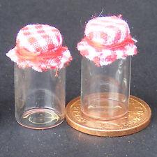 Échelle 1:12 2 verre de stockage Pots Avec Chiffon Tops Maison de Poupées Accessoire G25P