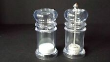 Clear Acrylic Salt Shaker and Pepper Mill Grinder