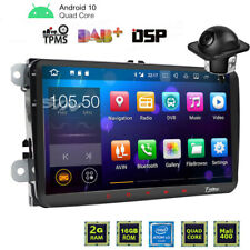 "9"" GPS Autoradio Android 10 For VW Passat Golf 5 6 Touran Jetta WiFi RDS+Camera"