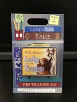 Disney Parks Lunch Time Tales Lady And The Tramp Lunch Box Pin LE