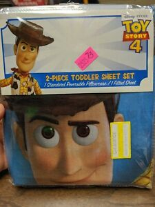 *NEW* Disney Pixar Toy Story 4 2-Piece Toddler Sheet Set 100% Polyester