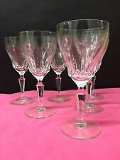 6 verres à vin Mod GOETHE taillé - cristal. H: 178 mm   Val Saint Lambert
