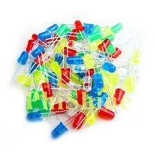 5mm LED Diode Tube Red/Green/Blue/White/Yellow LED Diode Bag Each 20 Total 100