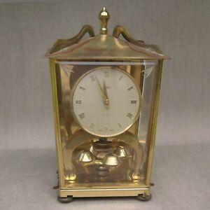 Vintage August Schatz & Shone 400 Day Anniversary Wind Up Clock #53 Brass