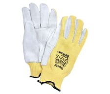 Sperian Kevlar Knit Gloves with Premium Leather Palm  ANSI Cut Level 4 - Medium