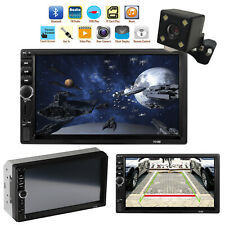 7'' HD Car Player Stereo Radio Bluetooth FM MP5 Touch Screen + Free Rear Camera