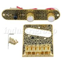 3 Way Pre-wired Control Plate Tremolo Bridge Set for Electric Guitar