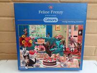 Gibsons 1000 piece jigsaw puzzle Feline Frenzy
