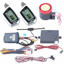 SPY two way LCD motorbike alarm remote start rechargeable remote shock sensor