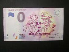 BILLET 0 EURO JACOBS BLAKE ET MORTIMER 2018 ETAT NEUF