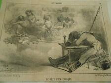 Caricature 19èm - Le rêve d'un cosaque lampions de qualité Chandelles des six