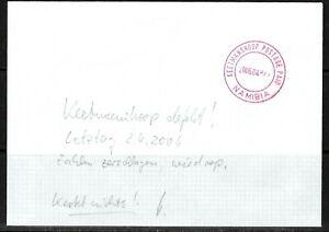 Namibia Cover - Keetmanshoop Postage Paid 02.04.2006 defekt