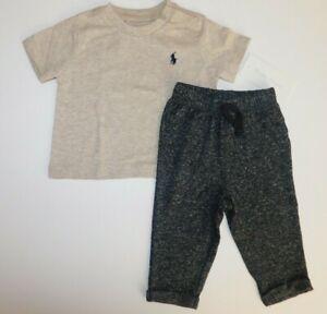 NWT NWOT Ralph Lauren/Jumping Beans Baby Boy 2 Pc Set T-Shirt/Pants 3-6M New