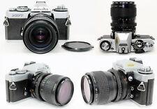 Vtg Minolta XD7 35mm SLR Camera w/ MD ROKKOR 35-70mm f/3.5 Lens Tested and Works
