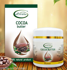 Cocoa cacao butter 100% pure oil product: natural face body anti-age cream 55ml