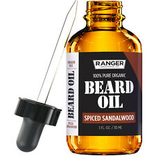 Spiced Sandalwood Beard Oil and Leave-In Conditioner by Leven Rose  - 1 oz