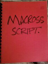 Macross Robotech Anime Script