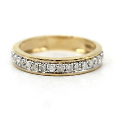 Half Eternity Round-Cut Natural Diamond Wedding Band 18Carat Yellow Gold