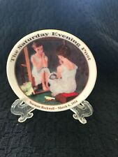 Collector Mini Plate Saturday Evening Post Norman Rockwell Girl at the Mirror