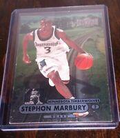 Stephon Marbury Metal Universe 1997-98 Fleer/ Skybox Metal 2 Silver Timberwolves