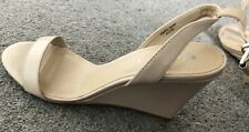 Very Barely There Nude Wedge Patent Sandals (5/38) - BNWT.