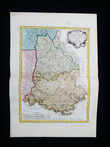 1785 ZANNONI: FRANCE, DAUPHINE, PROVENCE, ISERE, DROME, NICE, COTE D'AZUR...